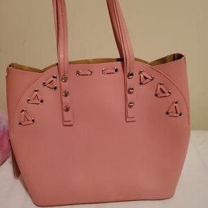 Italian genuine leather blush pink handbag